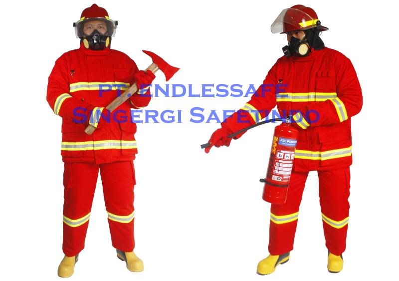 Pakaian Pemadam Kebakaran Tahan Panas Lengkap - 400px